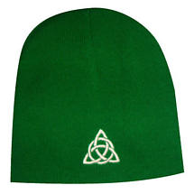Celtic Trinity Knot Beanie Hat - Green