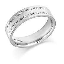 Irish Wedding Ring - Mens Gold Twin Celtic Knot Wedding Band