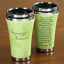 """Amazing Woman"" Travel Mug"