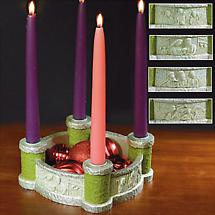 Bethlehem Scenes Advent Candleholder