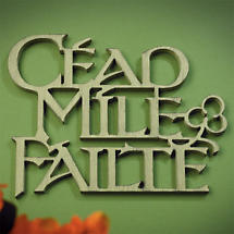 Cead Mile Failte Wall Word Hanging