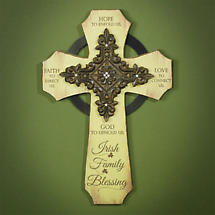 Irish Family Blessing Cross