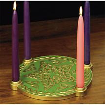 Irish Christmas - Celtic Knot Star Advent Candleholder