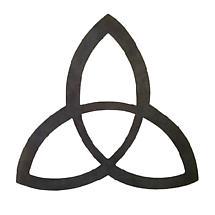 Metal Trinity Knot Hanging Garden Décor - 14 inch