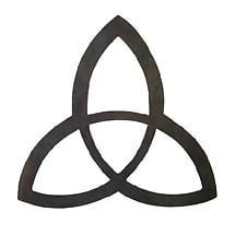 Metal Trinity Knot Hanging Garden Décor - 7.25 inch