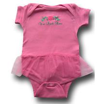 """Irish Romper - """"Wee Irish Rose"""" Infant Romper with Tutu - Pink"""