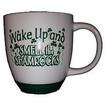 """Wake Up and Smell the Shamrocks"" Mug"