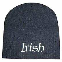 """Irish"" Beanie Hat - Black"