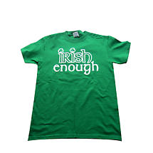 "Irish T-Shirt - ""Irish Enough"" - Green"