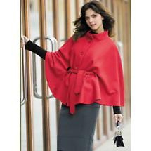 Cashmere Blend Belted Irish Cape