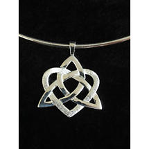 Celtic Pendant - Sterling Silver Heart of a Celt Choker