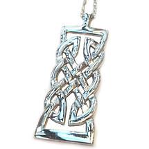 Celtic Pendant - Sterling Silver Celtic Warrior Knot Pendant