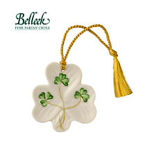 Irish Christmas - Belleek Shamrock Shaped Ornament