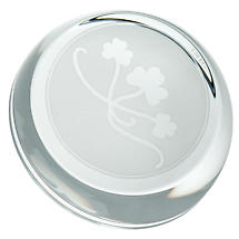 Galway Crystal Shamrock Sliced Paperweight