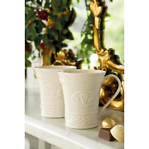 Belleek Claddagh Mugs - Set of 2