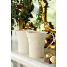 Belleek Claddagh Mugs - Set of 2