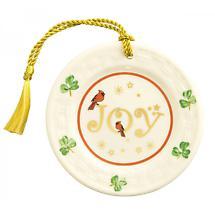 Irish Christmas - Belleek Joy Plate Ornament