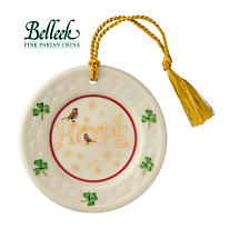 Irish Christmas - Belleek Hope Plate Ornament