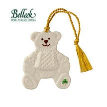 Irish Christmas - Belleek Teddy Bear Ornament