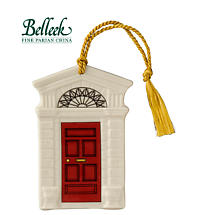 Irish Christmas - Belleek Georgian Red Door Ornament