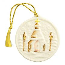 Irish Christmas - Belleek Snowflake Church Ornament