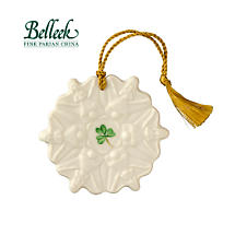 Irish Christmas - Belleek Angel Snowflake Ornament