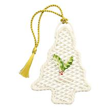 Irish Christmas - Belleek Basket Christmas Tree Ornament