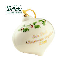 Irish Christmas - Belleek Our First Christmas 2015 Ornament