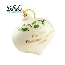 Irish Christmas - Belleek Our First Christmas 2015 Ornament
