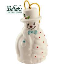Irish Christmas - Belleek Snowman with Fir Tree Ornament