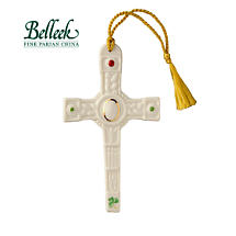Irish Christmas - Belleek Clogher Cross Ornament