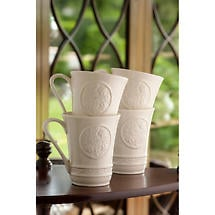 Belleek Irish Craft Mugs - Set of 4