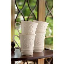 Belleek Irish Craft Mugs - Set of 4