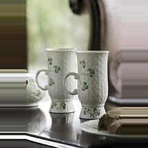 Belleek Irish Coffee Mugs - Set of 2