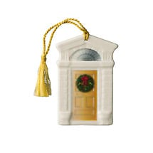 Irish Christmas - Belleek Georgian Doorway Ornament - Gold