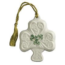 Irish Christmas - Belleek Shamrock Puff Ornament