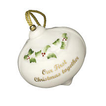 Irish Christmas - Belleek Our First Christmas Bauble