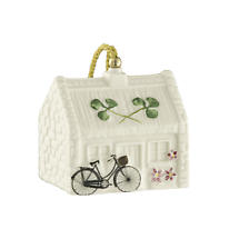 Irish Christmas - Belleek Nell's Cottage Ornament