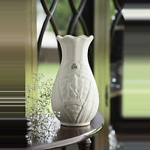 "Belleek Trademark 7"" Vase Edition Piece"