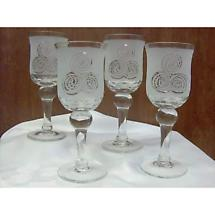 Celtic Triskele Glasses - Set of 4
