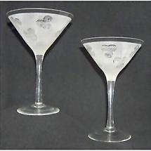 Celtic Triskele Martini Glasses - Set of 2