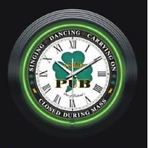 Irish Pub Neon Clock