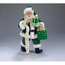 Irish Christmas - Irish Santa Holding Gifts Figurine