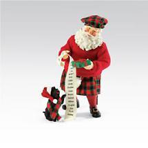 Irish Christmas - Great Scotts Santa and Dog Figurine