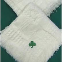Shamrock Knit Baby Blanket