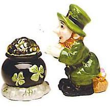 Leprechaun Pot of Gold Salt & Pepper Shakers