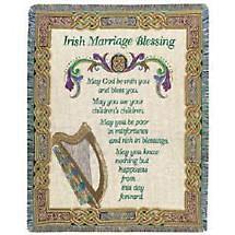 SALE - Irish Marriage Blessing Throw