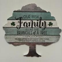 Irish Family Tree Wood Pallet Plaque