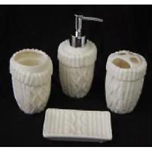 Aran Bath Ensemble - 4 Piece Set