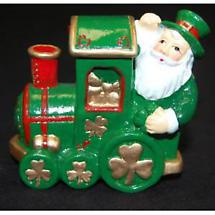 Irish Christmas - Shamrock Santa Train Ornament
